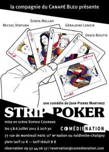 Strip Poker, Comédie Nation à Paris en 2012