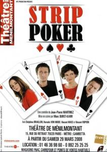 Strip Poker, Théâtre de Ménilmontant à Paris 2008